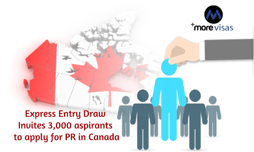 Express Entry draw Invites 3,000 Aspirants to Apply for PR in Canada