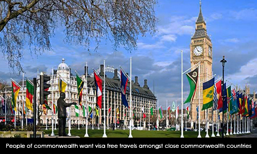 People of Commonwealth want Visa Free Travels Amongst Close Commonwealth Countries